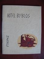 Livret Publicité HOTEL BYBLOS SAINT TROPEZ Années 70 80 Pub Coca Cola Roger Capron Piper Heidsieck Moët Sabena Olympic - Werbung