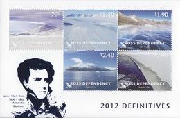 Ross, Bloc N°5 (J.C. Ross, Mont Erebus, Glacier Beardmore, Lac Vanda, Cap Adare, Banquise ...) Neuf ** - Dépendance De Ross (Nouvelle Zélande)