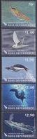 Ross, N° 140 à 144 (Chaîne Alimentaire : Krill, Pétrel, Manchot Adélie, Phoque Crabier, Baleine Bleue ...) Neuf ** - Neufs