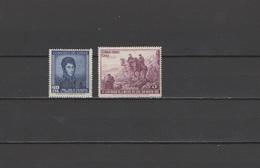 Chile 1951 Michel 458-459 General Jose De San Martin Set Of 2 MNH - Chile
