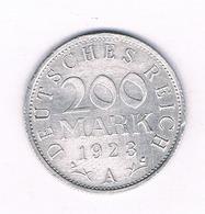 200 MARK 1923 A  /DUITSLAND /3445/ - [ 3] 1918-1933: Weimarer Republik