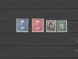 Chile 1952 Michel 460-463 Queen Isabella 500th Birthday Anniv., Bernardo O'Higgins 4 Stamps MNH - Chile