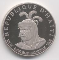 HAITI  10 Gourdes 1971  Seminole Chief Billy Bowlegs BE  ARGENT SPL - Haïti