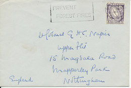Ireland Cover Sent To England Dun Laoghaire 15-4-1965 Single Franked - 1949-... Repubblica D'Irlanda
