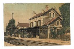 CPA 62 AUDRUICQ La Gare ( Carte Colorisée ) - Audruicq