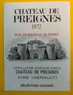 13639 - Château De Preignes 1972 Herault - Languedoc-Roussillon