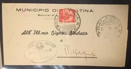 STORIA POSTALE 10 CENT DEMOCRATICA - Storia Postale