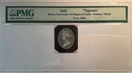 Banca Nazionale Nel Regno D' Italia 1866 RARE Thomas De La Rue Vignette Die Proof(Italy PMG Banknote Saggio Prove - [ 1] …-1946 : Royaume