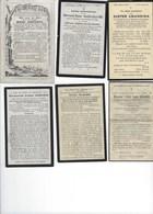 6 DOODSPRENTJES VAN KLOOSTERZUSTERS, 6 SOUVENIRS MORTUAIRES DE RELIGIEUSES, OVERLEDEN Tussen 1862 En 1936 - Images Religieuses