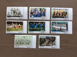 "Liberia 2002 Serie Compl. 8 Val. ""Juventus"" NUOVI - Famous Clubs"