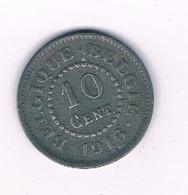 10 CENTIMES  1916  BELGIE /3458/ - 1909-1934: Albert I.