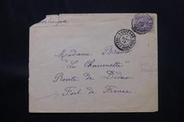 GUYANE - Affranchissement Plaisant De Cayenne Sur Enveloppe Pour Fort De France En 1919 - L 59799 - Guyane Française (1886-1949)