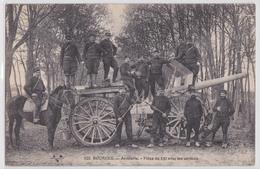 Bourges - Artillerie Pièce De 120 Avec Ses Servants Matériel Militaire Canon De 120 Long - Bourges