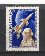 HONGRIE - Y&T N° 1430° - Youri Gagarine - Used Stamps