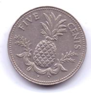 BAHAMAS 1984: 5 Cents, KM 60 - Bahamas