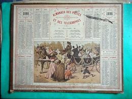ALMANACH DES POSTES ET DES TELEGRAPHES Année 1898 CALVADOS Bataille De Fleurs - Calendari