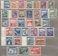 AUSTRIA OSTERREICH Definitive Complete Set 1945/1947 MNH (**) Mi 737-770 #21597 - 1945-.... 2ème République