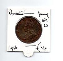 AUSTRALIE PENNY 1936 - Monnaie Pré-décimale (1910-1965)