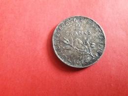 2 Francs 1915 Argent - Vrac - Monnaies
