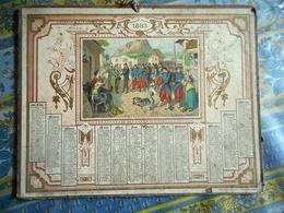 ALMANACH DES POSTES ET DES TELEGRAPHES Année 1883 LE BILLET DE LOGEMENT - Calendars
