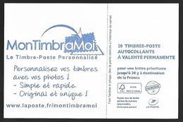 France 2014 - Yv N° 851 - C10 - Mon TimbraMoi ** - Usados Corriente