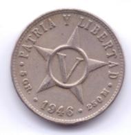CUBA 1946: 5 Centavos, KM 11 - Kuba