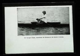 M. ADAM Record Distance Aviron - Boulogne Sur Mer à Ostende - 144 Km - Coupure De Presse (encadré Photo) De 1935 - Documents Historiques