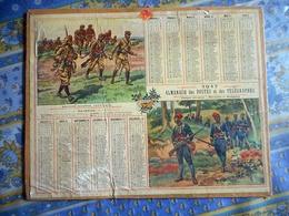 ALMANACH DES POSTES ET DES TELEGRAPHES 1917 CALVADOS GRANDE GUERRE 1914  1916 TROUPES AFRICAINES MAROCAINS ET SENEGALAIS - Grand Format : 1901-20