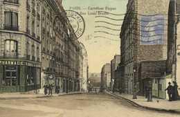 PARIS  Carrefour Picpus Et Rue Louis Braille Pharmacie Colorisée RV - Arrondissement: 12