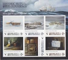 Ross, Bloc N°12 (Huttes Historiques : Scott Discovery, Shackleton Nimrod, Scott Terra Nova ) Neuf ** - Neufs