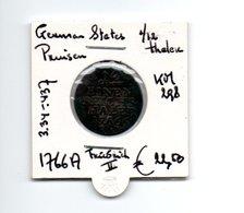 GERMAN STATES PRUISSEN 1/12 THALER 1766 A ZILVER FRIEDRICH II - [ 1] …-1871 : Duitse Staten