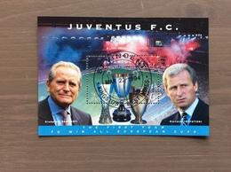 """St. Vincent & The Grenadines 1994 Foglietto 1 Val. """"Juventus Vincitrice Di Tutte Le Coppe Europee"""" USATO - Club Mitici"""