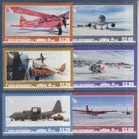 Ross, N° 167 à 172 (Aircraft : Auster T7C, DHC-2 Beaver, C130 Hercules, B757, Hélicoptère, Twin Otter) Neuf ** - Neufs