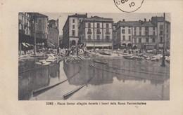 Como - Piazza Cavour Allagata Durante I Lavori Della Nuova Pavimentazione - Como