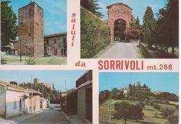 1300 RONCOFREDDO - SORRIVOLI E IL CASTELLO - VEDUTINE MULTIVUES - VIAGGIATA - Italia