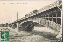 NICE Le Pont Du Var -Alpes Maritimes- Avec Train -circulée 1908- Scans Recto Verso - Transport (rail) - Station