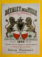 13660 - Dézaley De La Ville Clos Des Abbayes 1895 !!! Reproduction Voir 2e Scan - Etichette