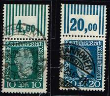 DR 1924,Michel# 368 - 369 O Mit OR  W 3'7'3 , W 2'9'2 - Used Stamps