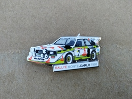 Rare Pin's Rallye Audi Quattro Sport S2 GB Monte-Carlo 86 Michelin Walter Röhrl - Audi