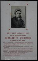 Image Pieuse Holy Card Heilig Prentje Lourdes Real Portrait Authentique Bernadette Soubirous 14 Years Old - Devotion Images