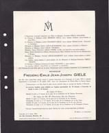 LOUVAIN LOVENJOEL Frédéric-Emile GIELE 1899-1948  Enterré HEVERLEE Familles BREBOIS FAGNART KOOPMANS - Décès