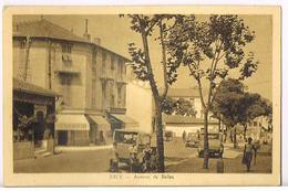 06- NICE Avenue De Bellet- Mercerie -Bar-Autos Enfants- RARE- Cpsm Circulée 1934-scans Recto Verso - Nice
