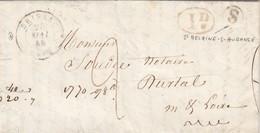 LETTRE. 28 MAI 45. BRISSAC MAINE-ET-LOIRE. BOITE RURALE S = ST MELAINE-S-AUBANCE. DECIME RURAL. POUR DURTAL - Postmark Collection (Covers)
