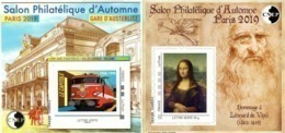 CNEP N°  81 Et 82 De 2019 - Bloc Autoadhésif - Salon D'automne, Gare D'Austerlitz. Léonard De Vinci, La Joconde - CNEP