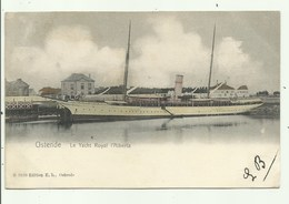 Oostende-  Le Yacht Royal L'Alberta   ( 2 Scans) - Oostende