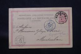 ALLEMAGNE - Entier Postal Avec Repiquage Au Verso De Hamburg Pour La France En 1886 - L 59826 - Ganzsachen
