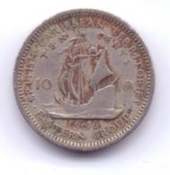 BRITISH CARIBBEAN TERRITORIES 1956: 10 Cents, KM 5 - East Caribbean States