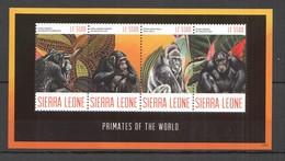 T1163 2012 SIERRA LEONE PRIMATES OF THE WORLD MONKEYS WILD ANIMALS FAUNA 1KB MNH - Apen