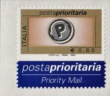 ITALIA REPUBBLICA 2004 PRIORITARIO € 0,80 MNH STAMPA TIPOGRAFICA  SASSONE N. 2732 - 2001-10:  Nuevos