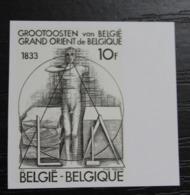 2066 'Vrijmetselaars' - Ongetand Met Bladboord - Zeer Mooi! - Belgique